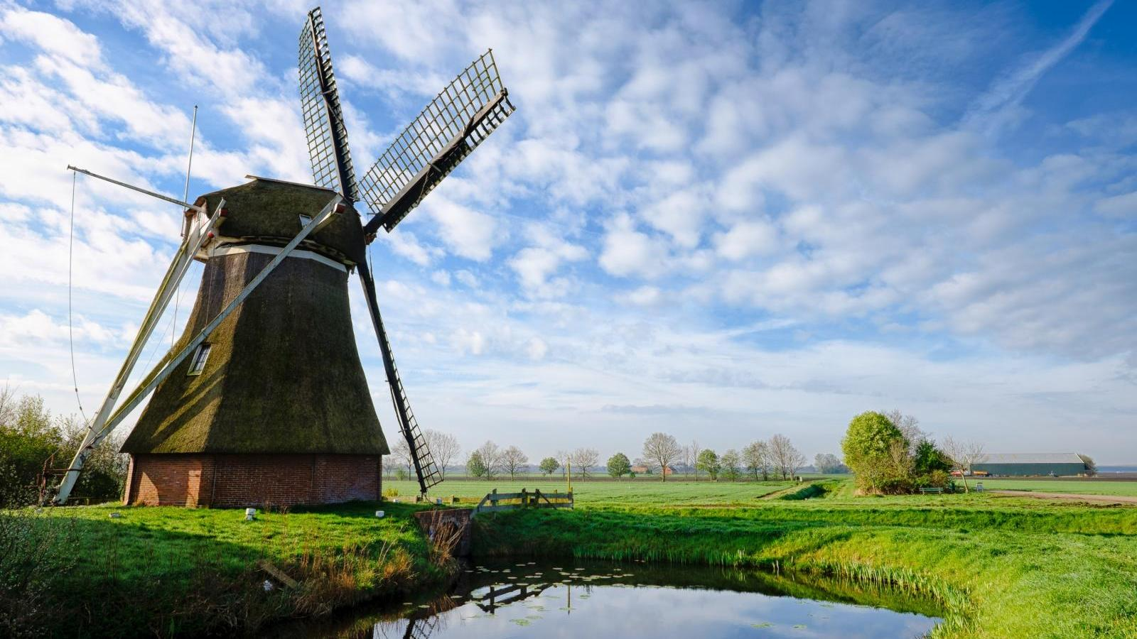 Large polder mill in Slochteren